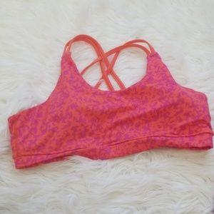Asics orange strappy sports bra